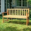 Gartenbank mit integriertem Klapptisch 152,5 cm x 90 cm x 56 cm (B x H x T)