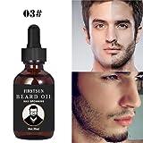 Hair Beard Growth Essence Oil - Fheaven 30ML Hair Beard Fast Growth Thicker Essence Mustache Grow Eyebrow Essence Oil (C) (Color: C, Tamaño: XXL)