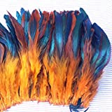 Hot natural 100pcs/lot ecru Beautiful Rooster feathers 6-8'' 15-20cm festival performance headwear clothing decoration
