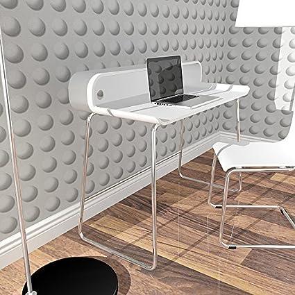 lounge-zone Design Retro Schreibtisch Sekretä Tisch HOT Weiß Arbeitszimmer 105cm 6629