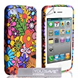 iPhone 4 / 4S Multicoloured Floral Silicone Caseby Yousave Accessories�