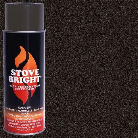 Stove Bright Ti-8124 High Temperature Paint, 1200 Degree F Operating Temperature Range, 12 Oz Aerosol, Rich Brown Metallic