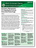 EM Critical Care: Emergency Management Of Coagulopathy In Acute Intracranial Hemorrhage