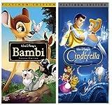 Bambi (Platinum Edition) and Cinderella (Platinum Edition) VHS