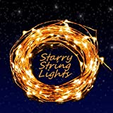 Baloray Indoor Led String Lights 100 Leds Warm White Color on Copper Wire 33ft Waterproof LED Starry Light with 5v Power Adapter for Christmas Wedding and Party