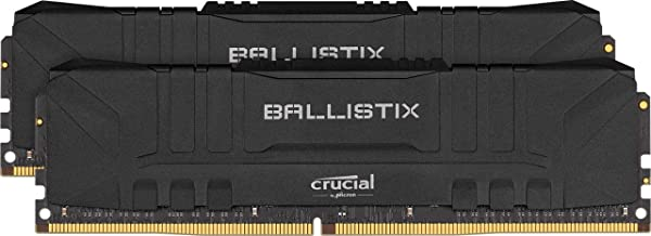 Crucial Ballistix 2400 MHz DDR4 DRAM Desktop Gaming Memory Kit 16GB (8GBx2) CL16 BL2K8G24C16U4B (Black) (Color: BLACK, Tamaño: STANDARD: 16GB (8GBx2))