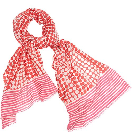 kinross-cashmere-dots-stripes-print-scarf-coral-reef-multi