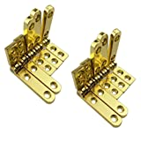 Welldoit 10 Pcs 90 Degree Hinges Wooden Box Gift Wine Jewellery Box Chest Case Hinge (Color: Gold)