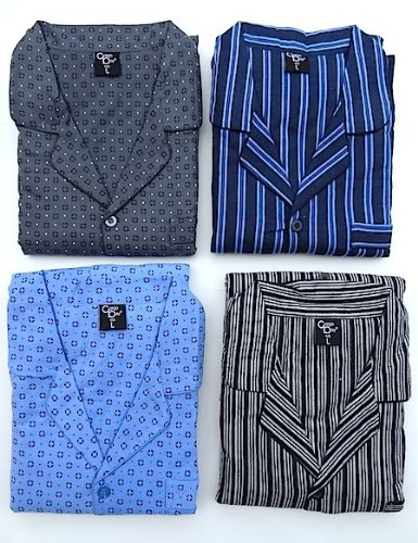 Mens Cargo Bay Warm 100% Cotton Pyjamas - 4 Designs + Sizes