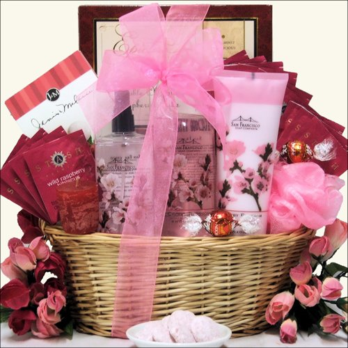 Greatarrivals Gift Baskets Cherry Blossom Spa Retreat Bath And Body Spa Gift Basket