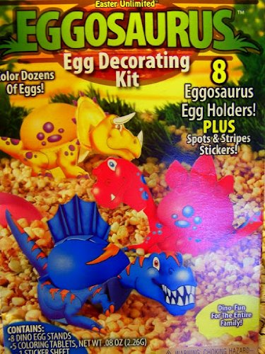 Easter Eggs Toys: Dinosaur Easter Egg Decorating Kit 8 Eggosaurus ...