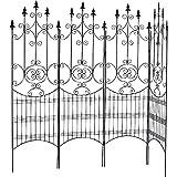 国華園 鉄製フェンス・グレイスDX 1個 幅200×高さ181cm 半分に分割可能 ブラック 鉄製 アイアン ガーデンフェンス