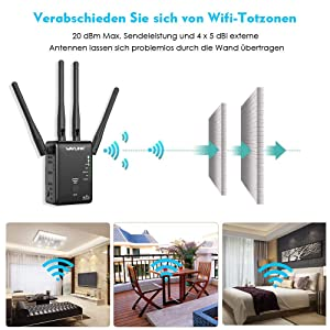 1200Mbps Dual Band WiFi Repeater,WAVLINK Wireless Repeater WiFi Range Extender,Wireless WiFi Signal Booster, Repeater/Router/Wireless Access Point Mode,Compatible with Any Router (Tamaño: 575A3)