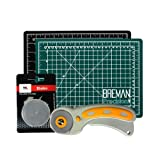 Rotary Cutter & Self Healing Mat Set – Professional 9x12 Double Sided Cutting Mat with Rotary Plus 5 Replacement Blades Making The Ultimate Arts & Crafts Kit for Sewing Quilting & Much More (Tamaño: 9x12)