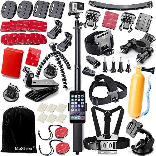 mcstree-gopro-kit-daccessoires50-en-1-pour-gopro-hero-4-3-3-2-1-noir-argent-accessory-kit-for-gopro-