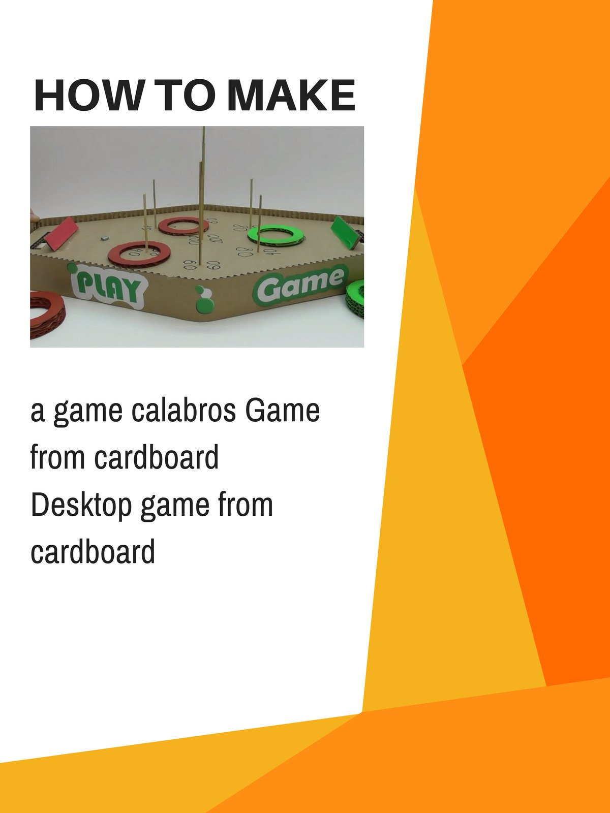 How to make a game calabros Game from cardboard Desktop game from cardboard