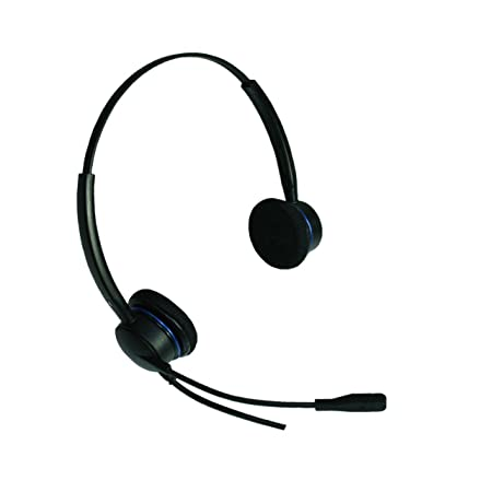 IMTRADEX extremely lightweight, cabled Headset AirTalk 3000 XD Flex binaural with ergonomic PTT-19 (Push-To-Talk) send button for PC's and various control centers programs with USB, ASP, NC