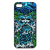 Custom santa cruz sea god black plastic Case for iphone 5 5s cover