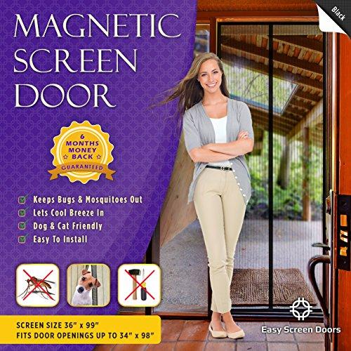 Easy Screen Doors Magnetic Screen Door Mesh Curtain Fits 34-Inch-by-98-Inch Doors MAX (Rv Magnetic Screen Door compare prices)