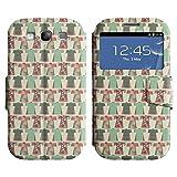 iKiki Tech Leder Tasche Case Hülle im Bookstyle mit Standfunktion Kartenfächer für Samsung Galaxy S3 - hübsche Kleider
