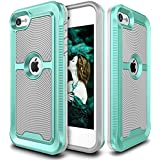 IPod Touch 6 Case, E LV IPod Touch 6 - Hybrid [Scratch/Dust Proof] Armor Defender Slim Shock-Absorption Bumper Case For IPod Touch 5 / IPod Touch 6 - GREY / MINT