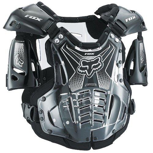 Fox Racing  Airframe Men's Roost Deflector MX/Off-Road/Dirt Bike Motorcycle Body Armor - Black / Large