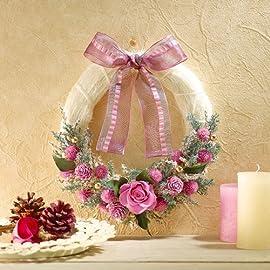 クリスマス【日比谷花壇】クリスマス・お正月2WAYリース「ピンク」