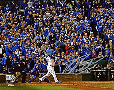 "Mike Moustakas Kansas City Royals 2015 MLB World Series Champions Autographed 8"" x 10"" World Series Photograph - Fanatics Authentic Certified"