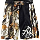 Legendary Whitetails Mens Gods Country Camo Lakeside Swim Shorts