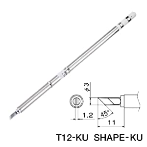 T12-KU Kit Series Solder Iron Tip Tips For HAKKO Soldering Rework Station (Tamaño: T12-KU)