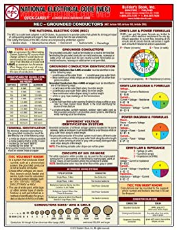 national electrical code quick card, wiring, electrical wiring residential mullin
