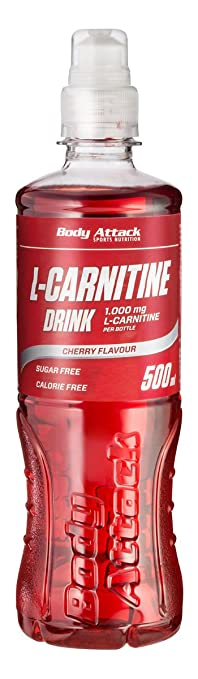 Body Attack L-Carnitine Drink, 18er Pack ( 18x 500 ml) (Cherry )