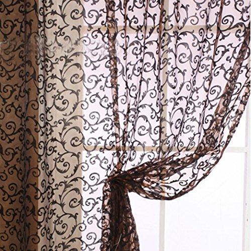 Fua 174 1 Piece 2mx1m Window Panel Drape Curtains Curtain