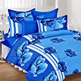 JMT Premium Cotton Double Bedsheet(100% Heavy Stuff Pure Cotton Double Bedsheet With 2 Pillow Cover,size -225x225 Cms, Pillow - 70x45 Cms)