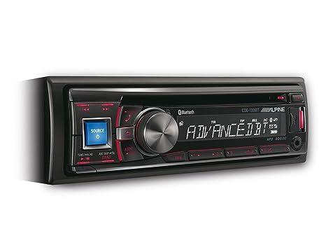 Alpine CDE-133BT Autoradio CD/DVD Noir