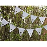 White Heart Bunting Banner - Great for a Wedding, Party, Christening or any Special Occasion