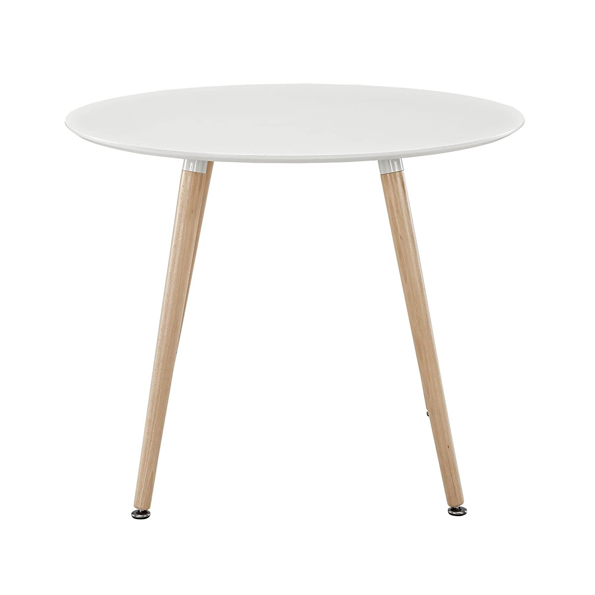 Modway Track Circular Dining Table in White