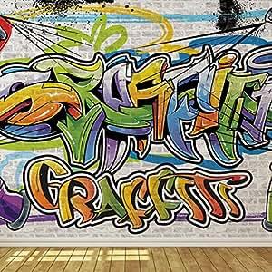 Cool graffiti wall 1 wallpaper mural for Amazon mural wallpaper