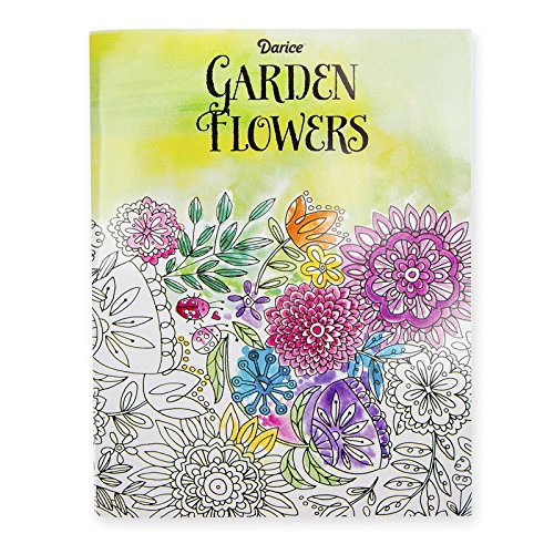 Darice Garden Flower Theme Coloring Books for Adults
