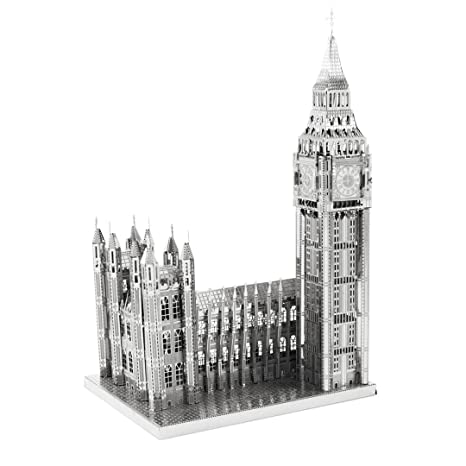 Big Ben et Houses of Parliament: Kit Métal Terre iconx Cut 3D Laser miniature du modèle