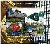 Tren sellos para coleccionistas - Trenes de América del Norte - 4 sellos de colección que ofrece trenes - Ideal para la recogida - excelentes condiciones - Mint NH