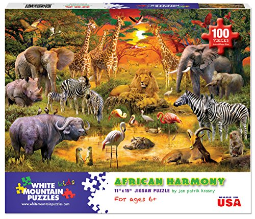 White Mountain Puzzles African Harmony - 100 Piece Jigsaw Puzzle