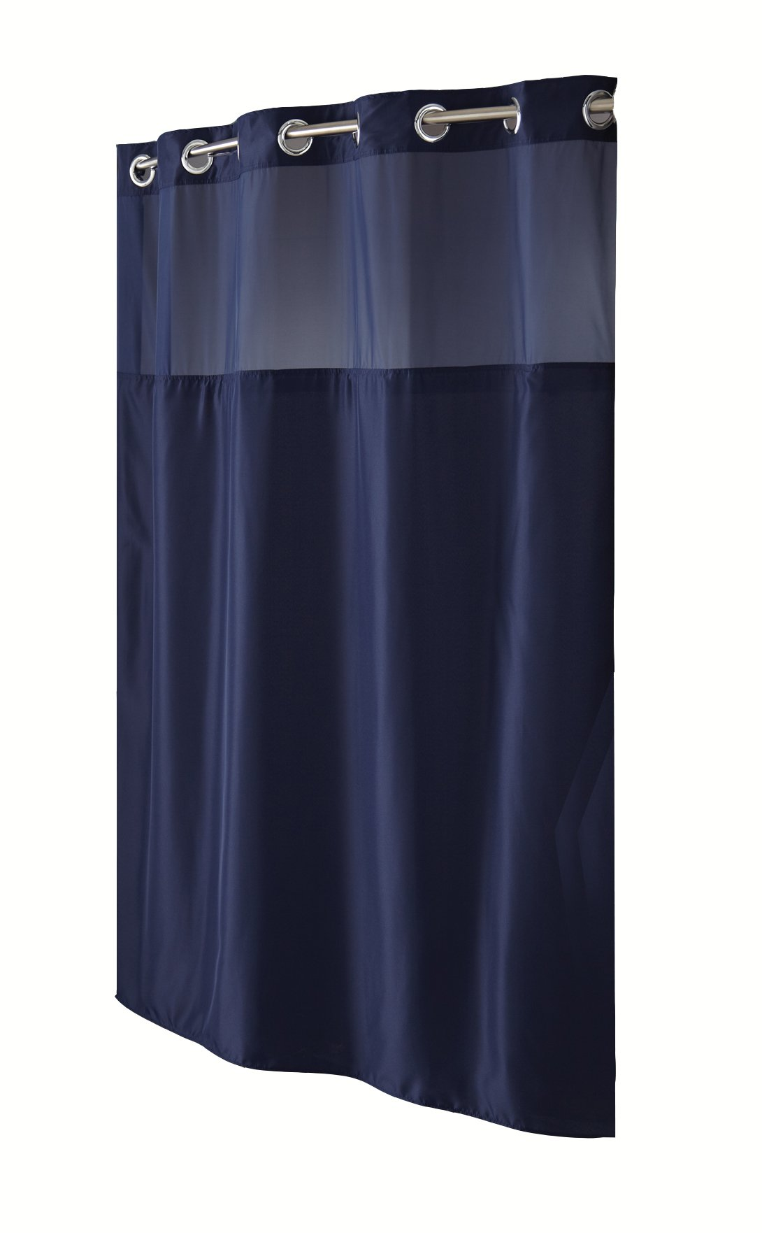 Hookless Fabric Shower Curtain With Built In Liner Navy Blue EBay