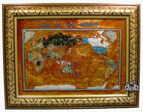 Gemstone World Map.At Buy Unique Art 26 Inch Cross With Frame Amberlite Pearl Swirl