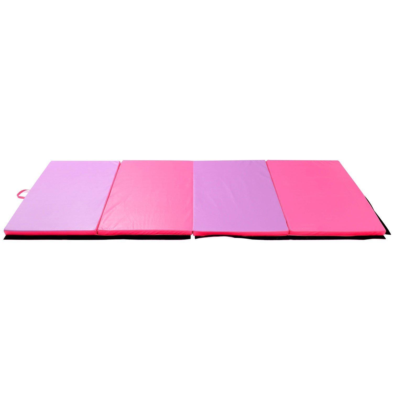 x products ak folding lime pink intermediate mats mat flat gymnastics level