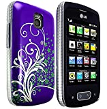 CellBig E- Purple Hard Back Case Cover Pouch Mask Wallet Pocket Holster for Your LG Optimus One P500 P503