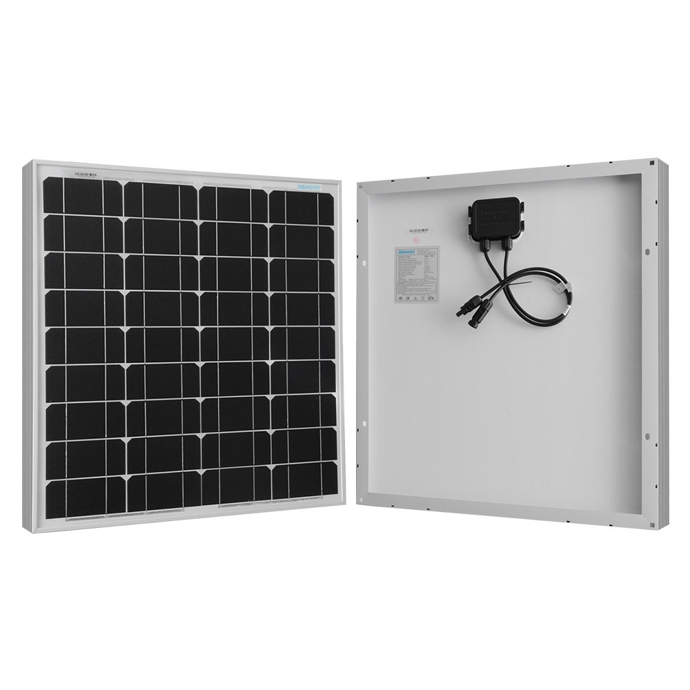 RENOGY Monocrystalline 50 Watts Solar Panel UL Listed Off Grid 12 Volt RV Boat