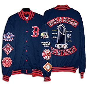 Boston Red Sox World Series Champions Patches Jacket - Genuine Major League... by G-III Sports