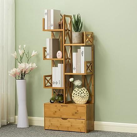 FEIFEI Libreria multifunzione Pavimento tipo Bamboo Art con cassetti Rack di stoccaggio combinato ( dimensioni : 52*20*124CM )