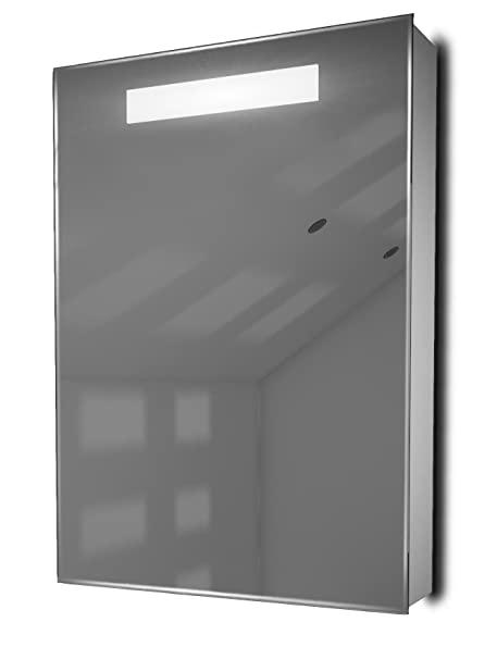 Alannah LED Illuminated Bathroom Mirror Cabinet With Sensor & Shaver k260